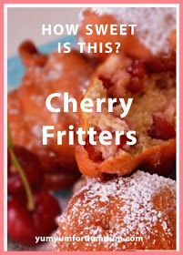 Yum Yum for Dum Dum: Cherry Fritters Cherry Desserts, New Flavour, Rolls Recipe, Sweet Bread, Baked Goods, Yum Yum, Food And Drink, Yummy Food