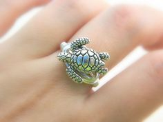 Turtle RING. To Order -Silver Pewter, Ocean, Sea, Aquatic, Nautical, Silver, Grey, Fall, Simple, Animal, Jewelry Rings, Silver Rings on Etsy, $12.50