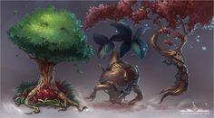 Dancing Trees by Vera Zowadova. verazowadova.com