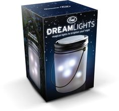This magic lamp will surely brighten your night and spirit as well. As it gently winks and blinks you'll fall asleep like a child to happy memories of glowing fireflies, warm summer nights, and lazy vacation days. Dreamlights is solar-powered - just leave it in full light to charge.It can be set to automatically switch on in the dark or turn on or off with a simple shake. Each lamp is gift-boxed.