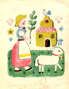 Mary had a little lamb illustration by Françoise. 1938