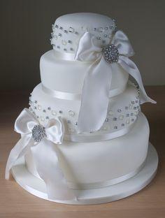 Sugar Ruffles: Diamond Wedding Cake
