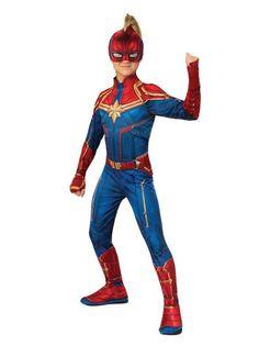 State-of-the-art Girls Captain Marvel Hero Suit Costume. Fresh stock of Captain Marvel Costumes for Halloween at PartyBell. Captain Marvel Costume, Marvel Costumes, Hero Costumes, Halloween Costumes, Halloween Party, Wicked Costumes, Marvel Cosplay, Toddler Halloween, Disney Halloween