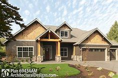 Spacious Home Plan with Ample Storage - 69003AM   Craftsman, Northwest, Photo Gallery, 1st Floor Master Suite, Bonus Room, CAD Available, Den-Office-Library-Study, PDF, Split Bedrooms   Architectural Designs