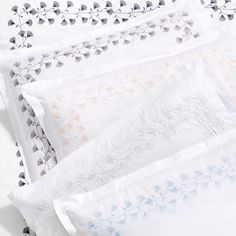Sky Floral Embroidered Bedding Collection - Exclusive Home - Bloomingdale's Embroidered Bedding, Cotton Bedding, Exclusive Homes, Bedclothes, Bedding Collections, Duvet Cover Sets, Sheet Sets, All The Colors, Linens