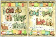 Scripture Art, I can do all things (Philippians 4.13) and God Works For the Good (Romans 8:28), Set of 2, 8 x 10 Fine Art Prints