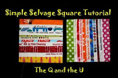 Riel Nason's selvedge tutorial