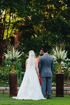 Ourtdoor ceremony Larkspur and curly willow  Atlanta Botanical Garden Wedding  Flowers by ufebuckhead.com Photo from emily & jim | wedding collection by Andrew Thomas Lee Photography