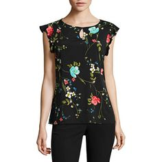 FREE SHIPPING AVAILABLE! Buy Worthington Short Sleeve Keyhole Flutter Sleeve Top at JCPenney.com today and enjoy great savings.
