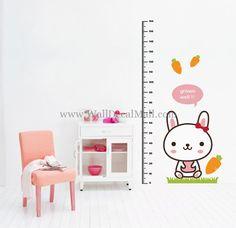 Rabbit Measurement Kid Wall Decals – WallDecalMall.com