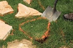 Install a flagstone, gravel, or paver walkway in a weekend or less! Use these three DIY walkway ideas to add interest to your yard—our easy how-tos walk you through every step of the process. Garden Steps, Diy Garden, Garden Paths, Lawn And Garden, Shade Garden, Backyard Walkway, Fire Pit Backyard, Backyard Landscaping, Stone Landscaping
