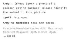 I'm all three - accurate - agreed Kdrama Memes, Funny Kpop Memes, Exo Memes, Fandom Kpop, Fandom Memes, Monsta X, Oppa Gangnam Style, Korean Music, Hyungwon