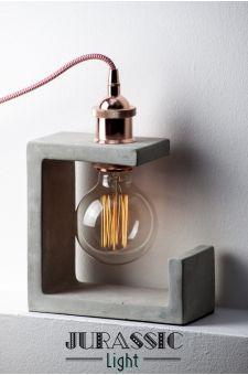 25 Trendy Items For Edgy Home Decor - Lampen Diy Luminaire, Luminaire Design, Luminaire Vintage, Concrete Light, Concrete Lamp, Beton Design, Concrete Design, Concrete Crafts, Concrete Projects