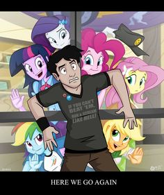 Equestria Girls. Not really sure if completely understand the joke but funny all the same