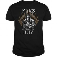 Awesome Tee KINGS ARE BORN IN JULY T shirts