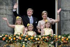 König Willem-Alexander, Königin Máxima und die drei Töchter Amalia, Ariane und Alexia (Quelle: Reuters)