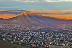 Aerial View of Graaff Reinet from the Valley of Desolation Aerial View, South Africa, Attraction, Beautiful Homes, City Photo, Cape, Things To Do, Road Trip, Oct 2016