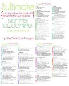 The Ultimate Spring Cleaning Check List ~ free copy