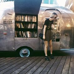 Doesn't everyone fill their camper storage with books?