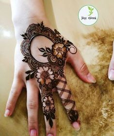 Simple And Beautiful Mehendi Design - mehndi - Henna Designs Hand Latest Arabic Mehndi Designs, Floral Henna Designs, Finger Henna Designs, Back Hand Mehndi Designs, Mehndi Designs Book, Mehndi Designs 2018, Mehndi Designs For Beginners, Unique Mehndi Designs, Mehndi Design Photos