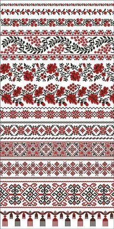 / Фото - рушники - by tammi Cross Stitch Geometric, Cross Stitch Borders, Cross Stitch Designs, Cross Stitching, Cross Stitch Embroidery, Hand Embroidery, Embroidery Patterns, Cross Stitch Patterns, Palestinian Embroidery