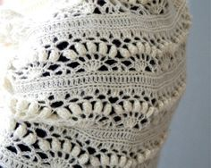 Crochet White Mohair Oversized Cowl Iris di PatternsbyMarianneS