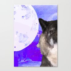 The Dog and the Moon Canvas Print