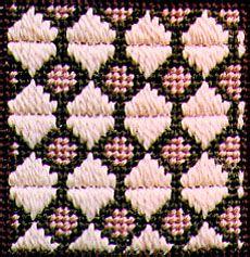 Photo of Framed Hexagons Decorative Stitch