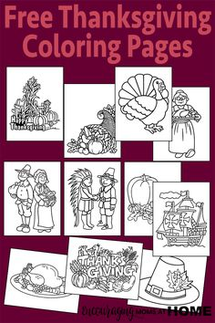 Free Thanksgiving Coloring Pages                                                                                                                                                                                 More