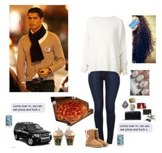 """Going on a date with your boyfriend"" by simply-netflix ❤ liked on Polyvore featuring Akira, UGG Australia, URBAN ZEN, Georg Jensen and Burberry"