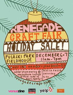 Renegade Craft Fair Holiday Sale! by giant dwarf, via Flickr