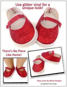 """Mary Janes 18"""" Doll Shoes"""