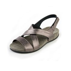 Fay Ladies Sandal E  The plain lines of this graceful sandal complement the super soft straps and comfort footbed. A sandal that is at home on an evening out as it is in the kitchen.