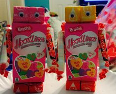 Candy robots that I made for my class of 3, 4 & 5 year olds!