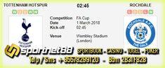 Prediksi Skor Bola Tottenham Hotspur vs Rochdale 1 Mar 2018 FA Cup pada hari Kamis jam 02.45 WIB di Wembley Stadium (London). Pertandingan FA Cup 2018 berlangsung di London