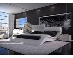 high quality leather bed soft bed modern bed bedroom furniture home furniture  LS513 $645.00