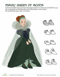 Worksheets: Mary Queen of Scots Fashion