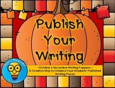 October/November Writing Toppers by Just a Thought Creations | Teachers Pay Teachers