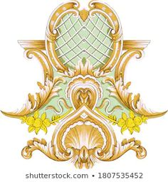 Stock Image Vector Adlı Katılımcının Stok Fotoğraf ve Görsel Portföyü   Shutterstock Baroque Pattern, Pattern Art, Textile Patterns, Textile Design, Paisley Drawing, Paisley Embroidery, Wildflower Tattoo, Ornament Drawing, Stock Image