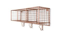 Amph copper wall hung storage unit perfect for the hallway from made.com £89.
