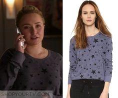 Nashville: Season 4 Episode 18 Juliette's Purple Star Print Sweater