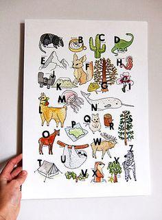 ILLUSTRATIONS ABC into the wild Ana Fernandez