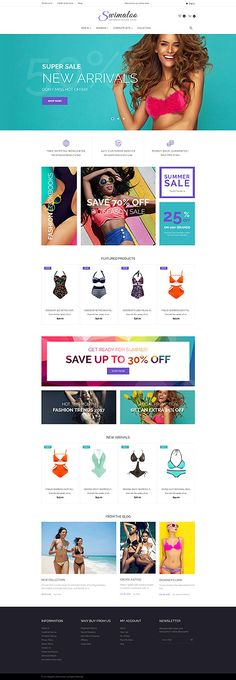 Swimwear Online Store #Magento #template. #themes #business #responsive #webshop #Magentothemes