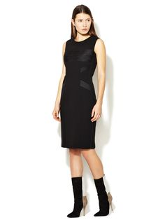 Seamed Silk Trim Dress by Narciso Rodriguez at Gilt