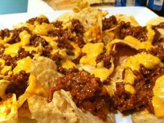 Showed this to Jord, who is my 16 yr old kiddo... He looked at me and said...Pin that mofo!   Sloppy joe nachos - yes please!