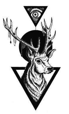 Geometric Deer - Design for my new T-Shirt