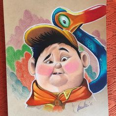 Disney Character Drawings, Cute Disney Drawings, Mandala Art Lesson, Pinturas Disney, Disney Paintings, Disney Pixar Up, Art Folder, Disney Colors, Princess Drawings