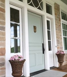 2018 Front Door Paint Colors Popular Paint Colors Right Now is part of painting Colors Porches - Choose from my top picks for popular front door paint colors for 2018 Add curb appeal with a quick, easy, and inexpensive update and a fresh coat of paint Sherwin Williams Paint Colors, Farmhouse Paint, Sea Salt Sherwin Williams, Coastal Interiors, Painted Front Doors, Exterior House Colors, Front Door Paint Colors, House Paint Exterior, Painted Doors
