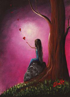 Just Beneath The Moonlight Original Art by Shawna Erback