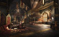 fantasy bedroom castle concept forest medieval eso homestead rpg launch